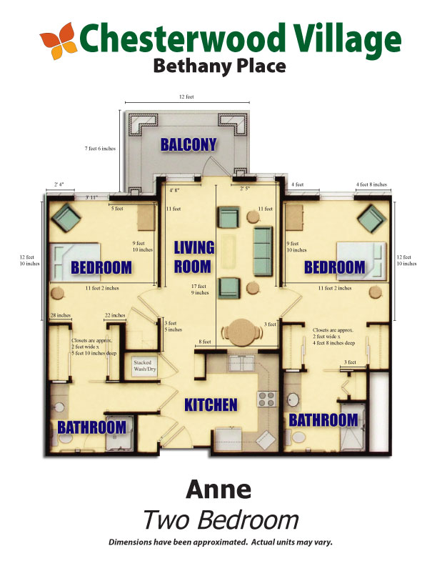 Anne Floor Plan | Hillandale Communities