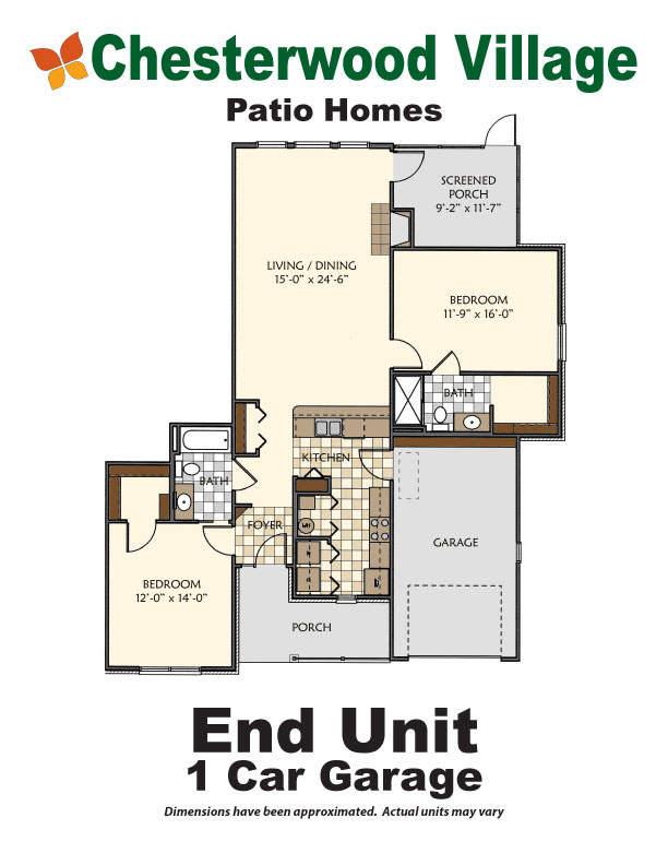 End Unit 1 Car Garage | Hillandale Communities