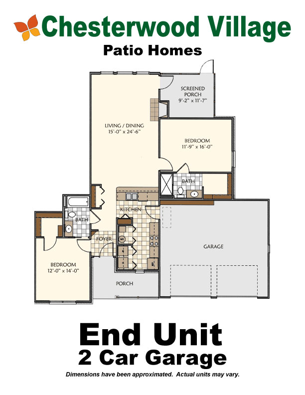 End Unit 2 Car Garage | Hillandale Communities