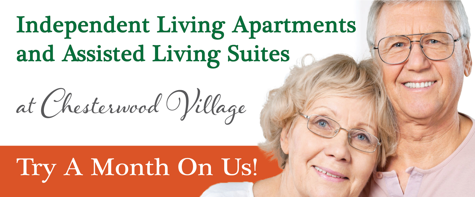 Try A Month On Us | Hillandale Communities